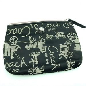 Coach Black Small Zipper Close Bag
